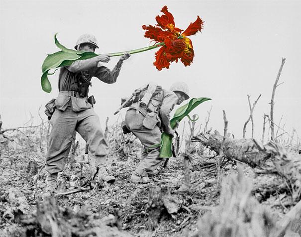 guns-flowers-vintage-photos-collage-art-blick-3