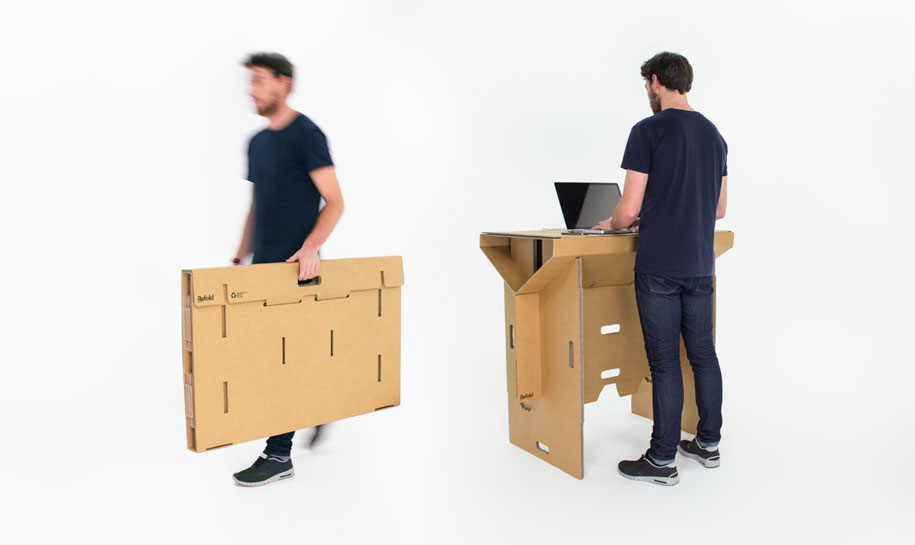 This Clever Cardboard Desk Is Recyclable Portable And