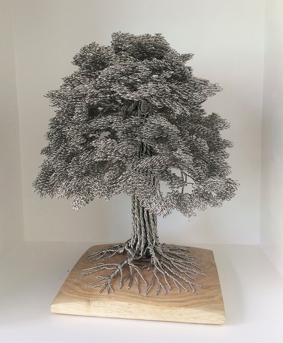 Artist Turns Single Strands Of Wire Into Elaborate Tree