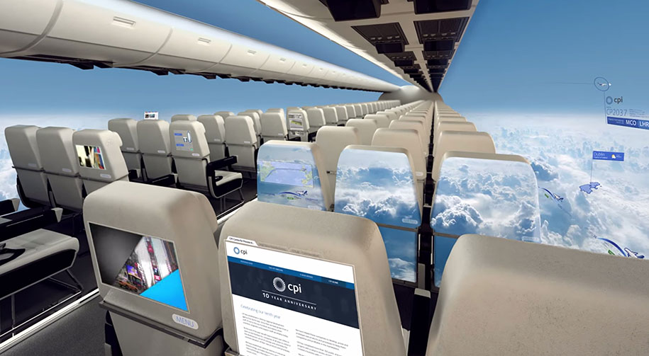 In 10 Years Windowless Aircraft Will Provide Passengers