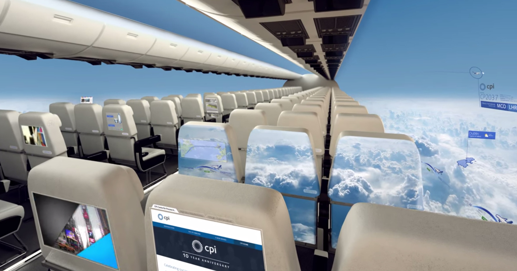 in 10 years windowless aircraft will provide passengers with a panoramic view. Black Bedroom Furniture Sets. Home Design Ideas