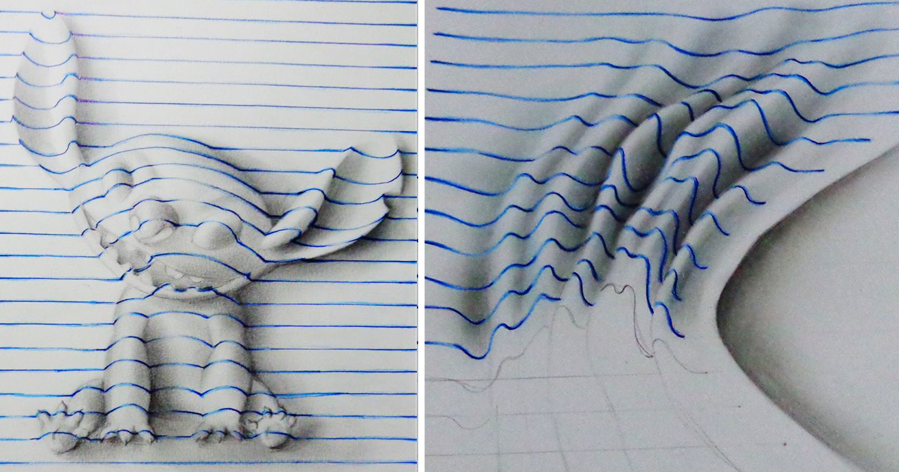 D Line Drawings : D doodles by joao carvalho seem to leap off the page