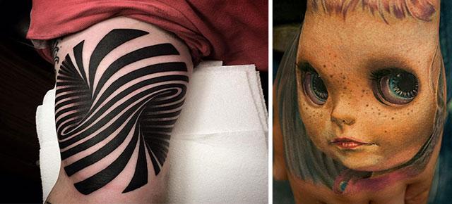25 mind bending 3d tattoos. Black Bedroom Furniture Sets. Home Design Ideas
