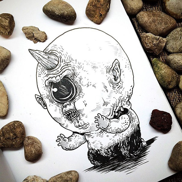 baby-terrors-iconic-horror-characters-illustrations-alex-solis-22