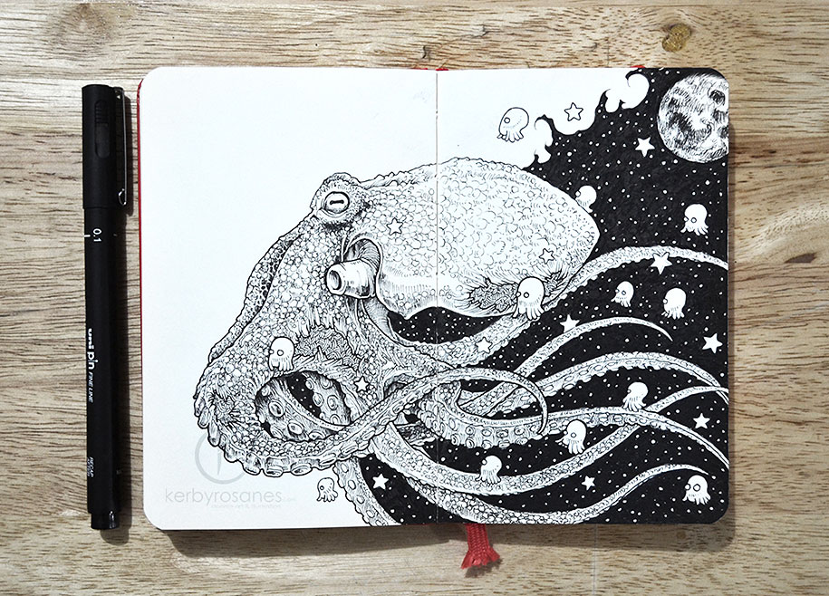 New Impressively Detailed Doodles By Kerby Rosanes
