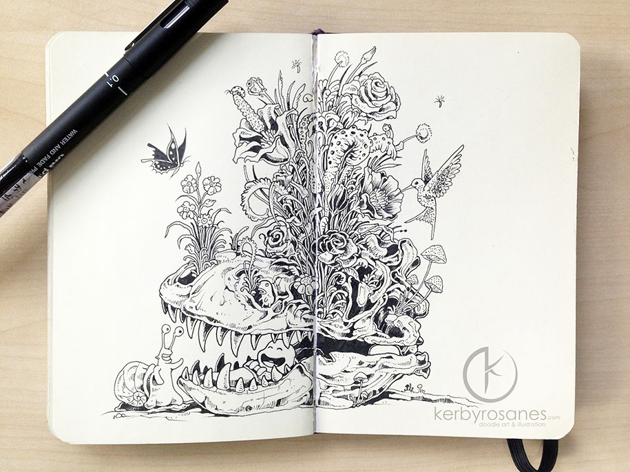 New Impressively Detailed Doodles By Kerby Rosanes Demilked