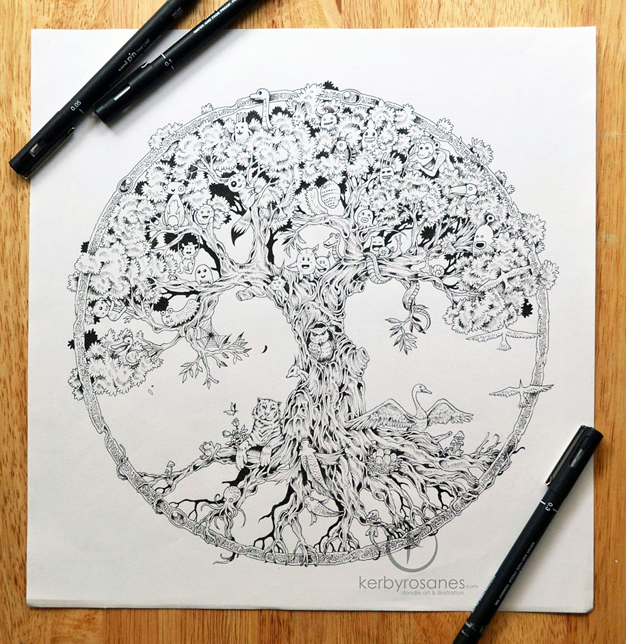 Detailed Pen Drawings Kerby Rosanes 7