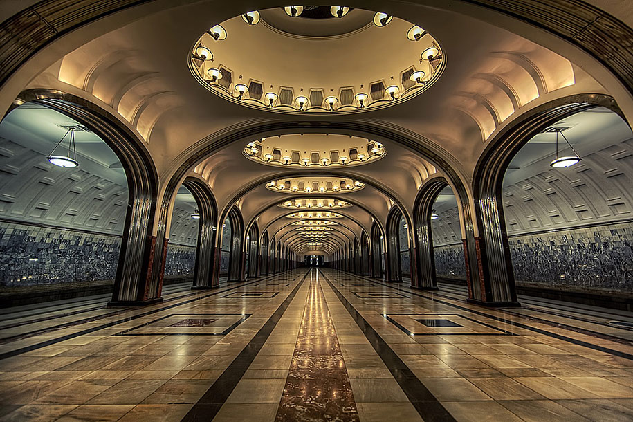 24 Of The Most Impressive Metro Stations Around The World