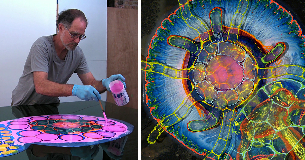 Artist Creates Mind Bending Abstractions By Pouring Paint