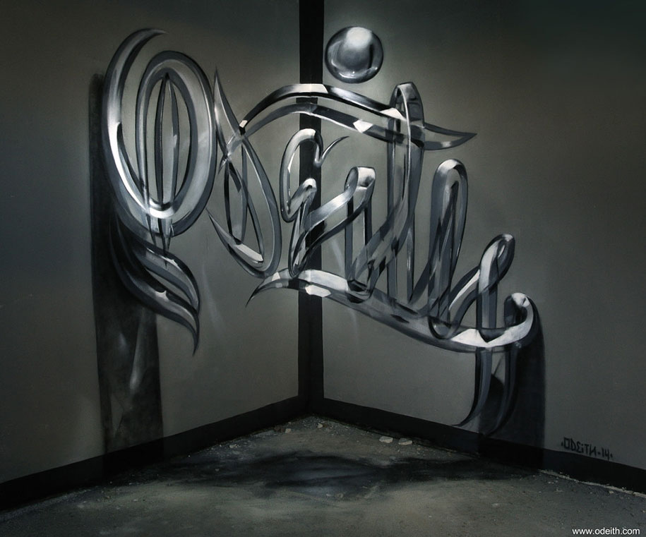 Incredible 3d Graffiti Illusions By Portuguese Artist Odeith