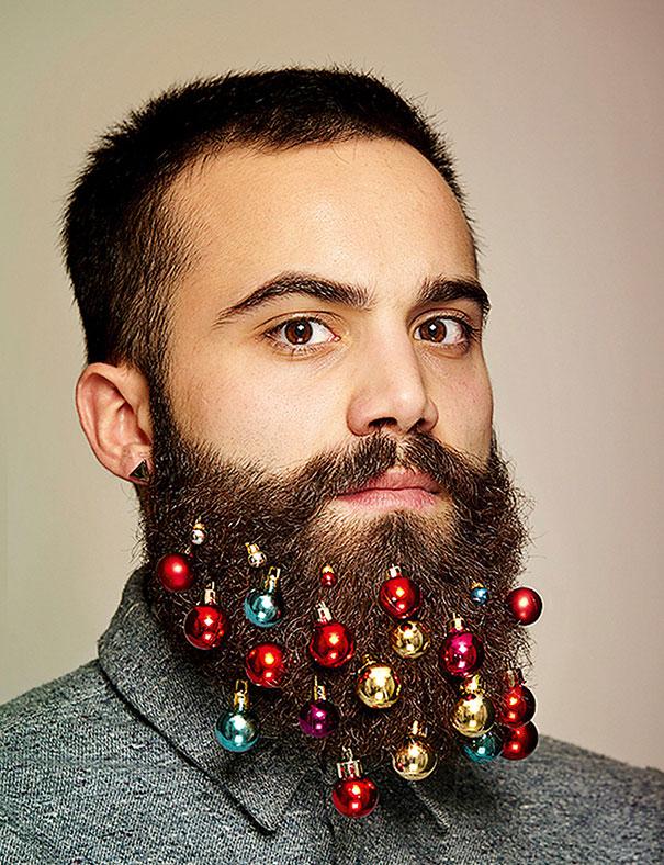 Christmas Beard Decorations Beard Into a Christmas