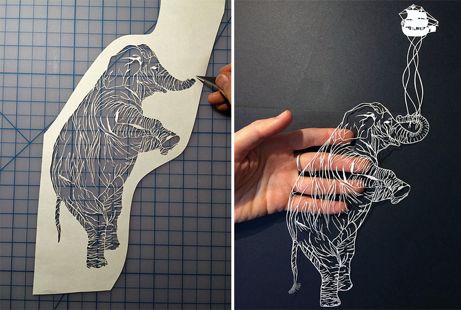New Stunningly Intricate Paper Art By Maude White - Intricate hand cut paper art maude white