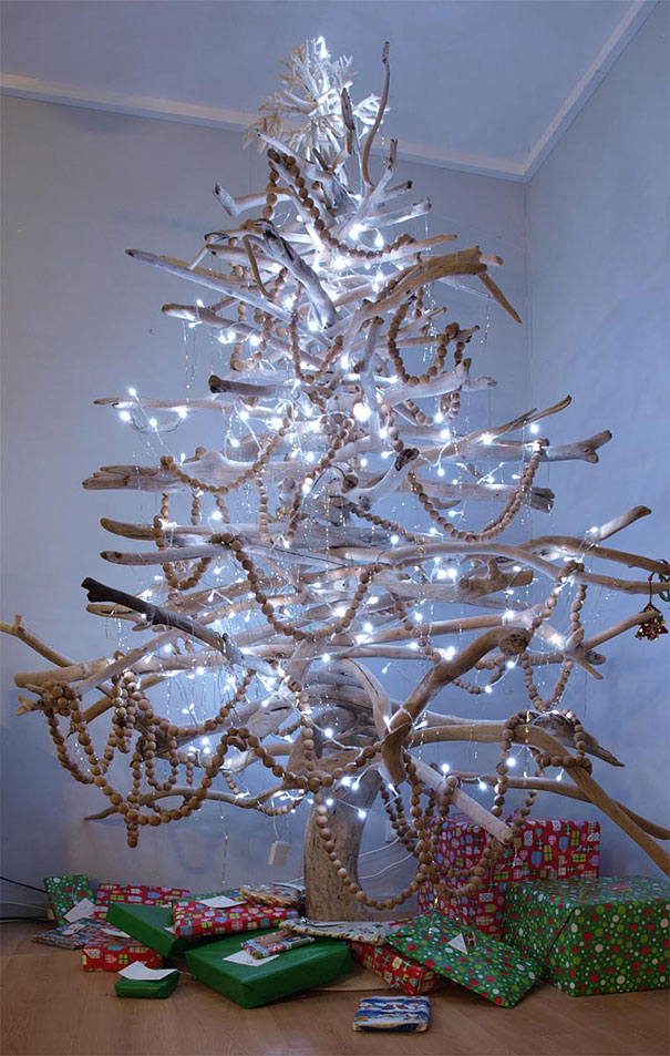 christmas tree made from branches - Christmas Tree Branch Decorations