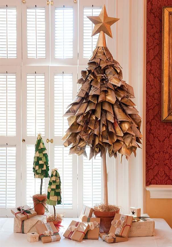 20 of the most creative diy and recycled christmas tree ideas diy chirstmas tree designs recycling holidays 8 solutioingenieria Choice Image