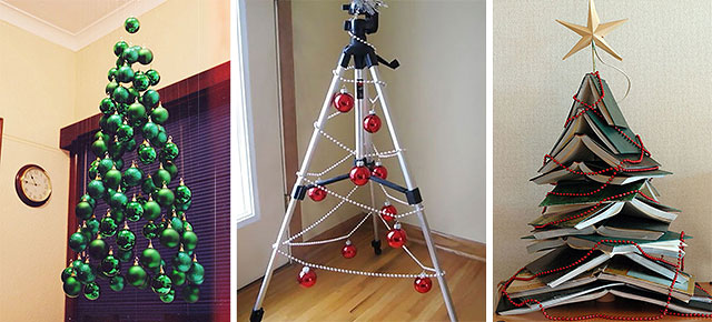 20 of the most creative diy and recycled christmas tree ideas for Christmas tree decorations you can make at home