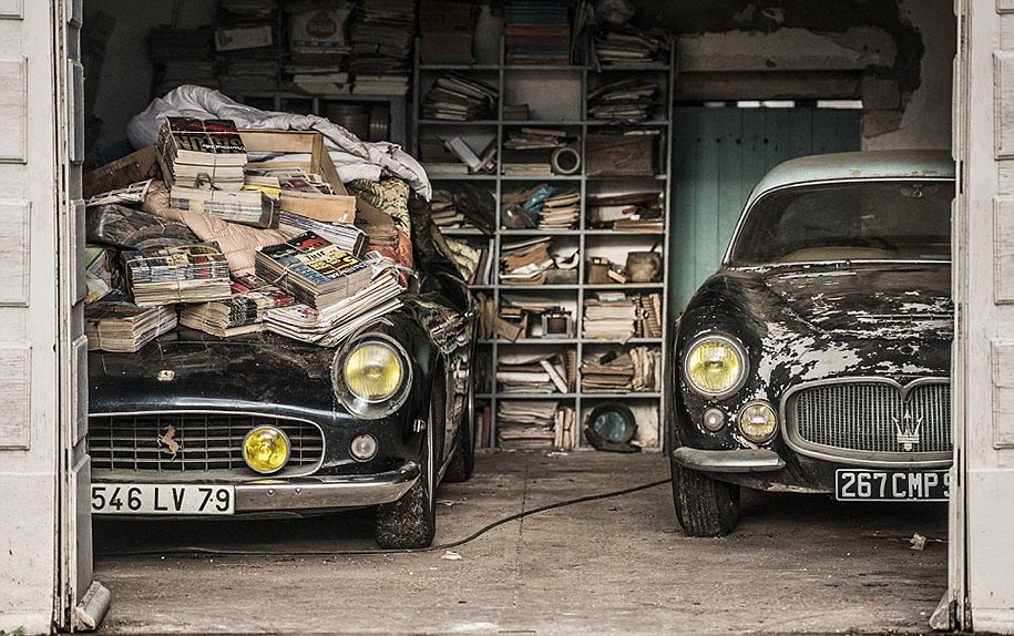 Vintage Cars Found In French Farm Garage After Years Are