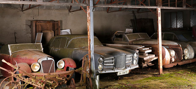 60 Vintage Cars Found In French Farm Garage After 50 Years Are Worth At Least GBP12 Million