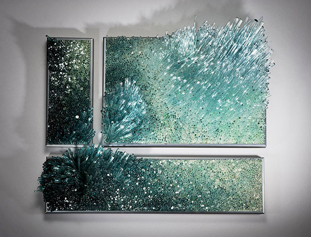 ocean inspired glassblowing sculptures by shayna leib. Black Bedroom Furniture Sets. Home Design Ideas