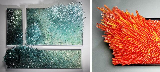 Shayna Leib ocean-inspired glassblowing sculpturesshayna leib