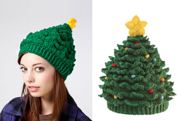 Christmas Tree Hat. knit-crochet-hats-winter-caps-14 fdfecd21c3f