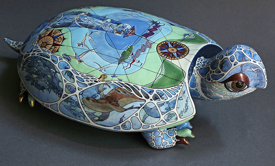 fantasy porcelain animals by ukrainian artist duo anya