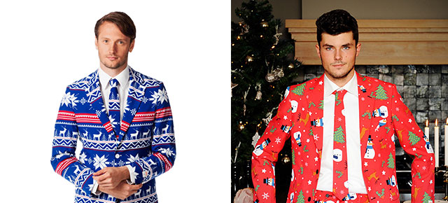 quirky line of suits inspired by ugly christmas sweaters - Christmas Sweater Suit