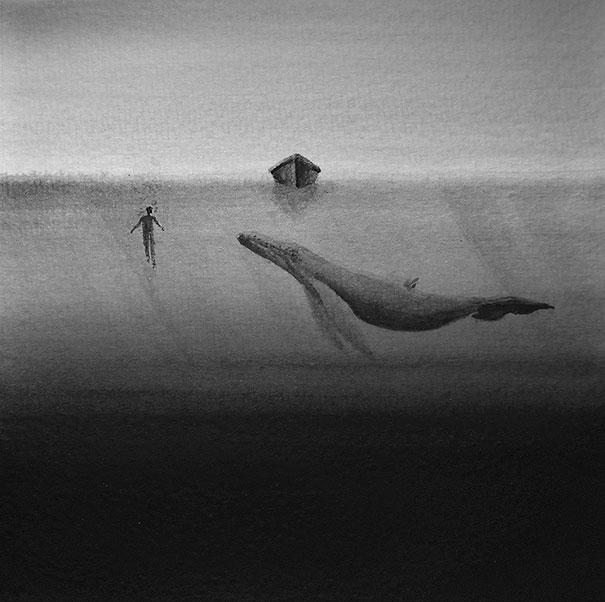 black-and-white-watercolor-art-elicia-edijanto-3