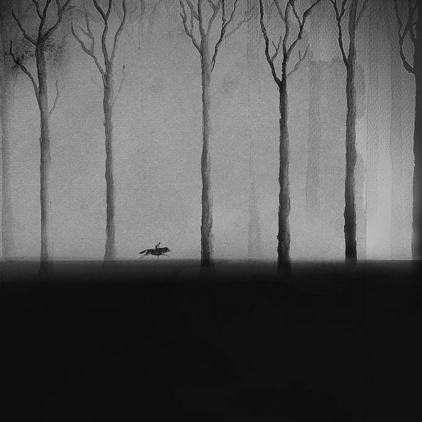 black-and-white-watercolor-art-elicia-edijanto-5