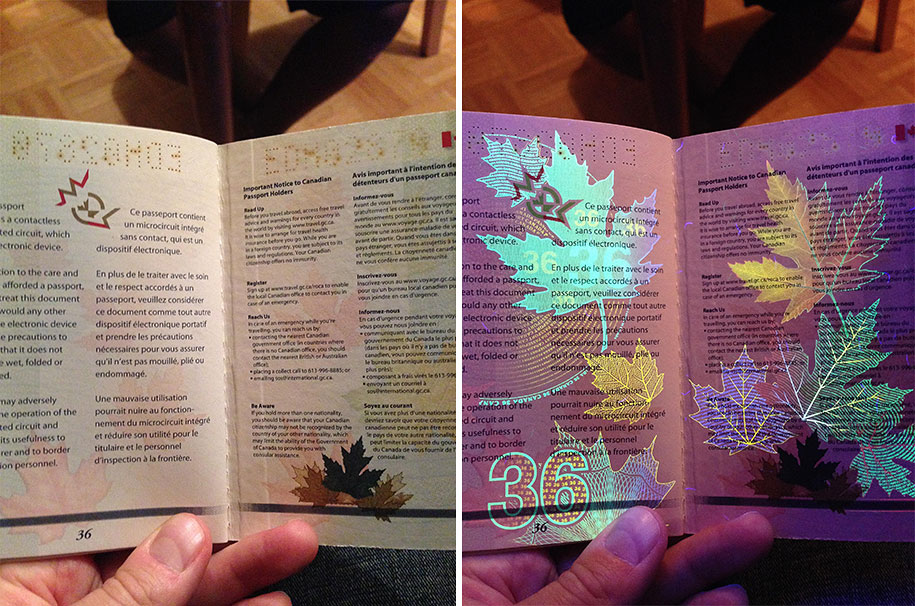 Newest Canadian Passport Features Hidden Images Only