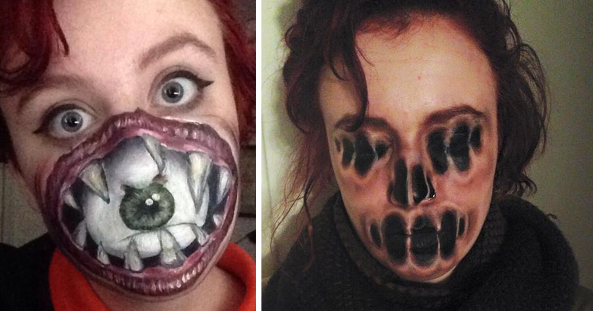 Self Taught Artist Creates Incredibly Creepy Makeup Art