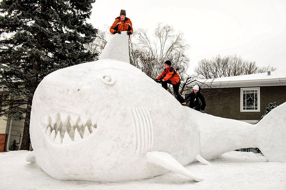 animal snow sculptures - photo #5