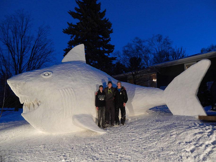 animal snow sculptures - photo #8
