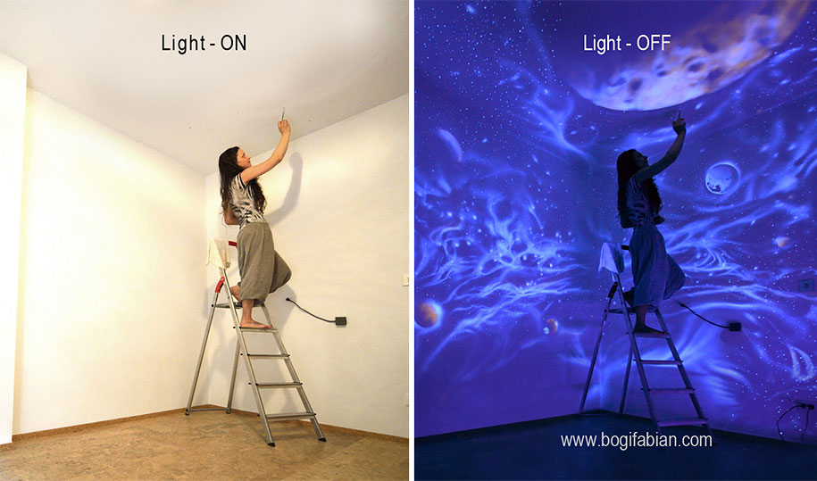 Lovely Glowing Murals Uv Blacklight Art Bogi Fabian 10 Part 28