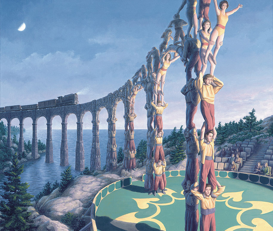 mind bending paintings by canadian artist rob gonsalves magic realism paintings illusions rob gonsalves 12