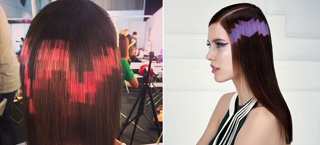 Pixelated Hairdos Are The Latest Trend From Spain