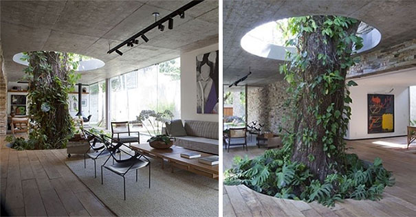 26 green ideas that bring nature into your home for Interior designs with plants