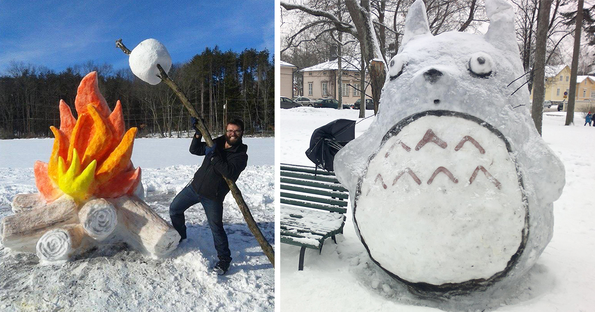 snow art | DeMilked