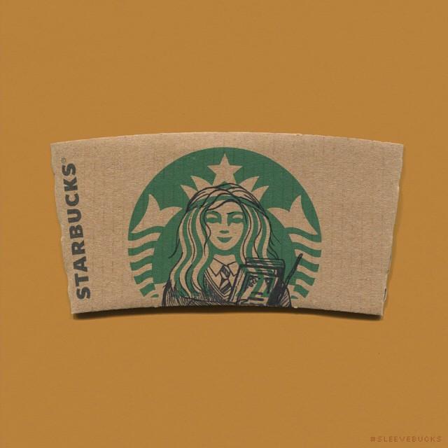 Mermaid On Starbucks Coffee Sleeves Turned Into Popular