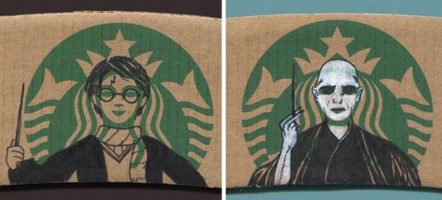 Mermaid On Starbucks Coffee Sleeves Turned Into Popular Characters