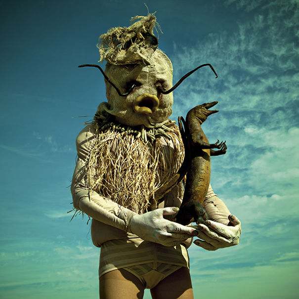 wounderland  photos of grotesque monsters accompanied by