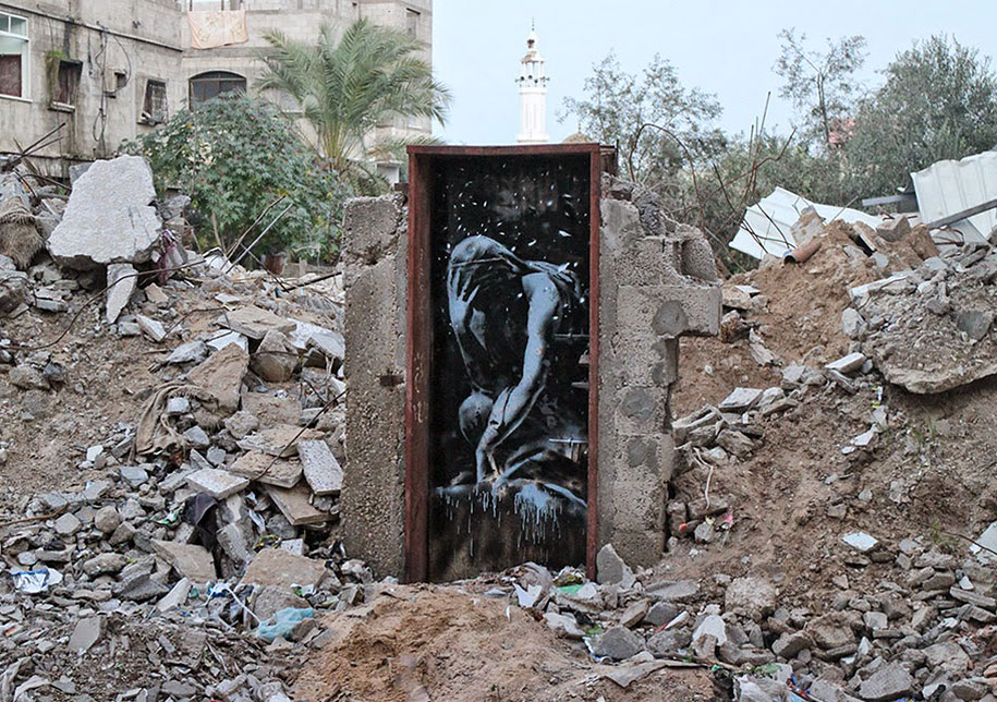Israel-palestine-conflict-gaza-graffiti-banksy-4