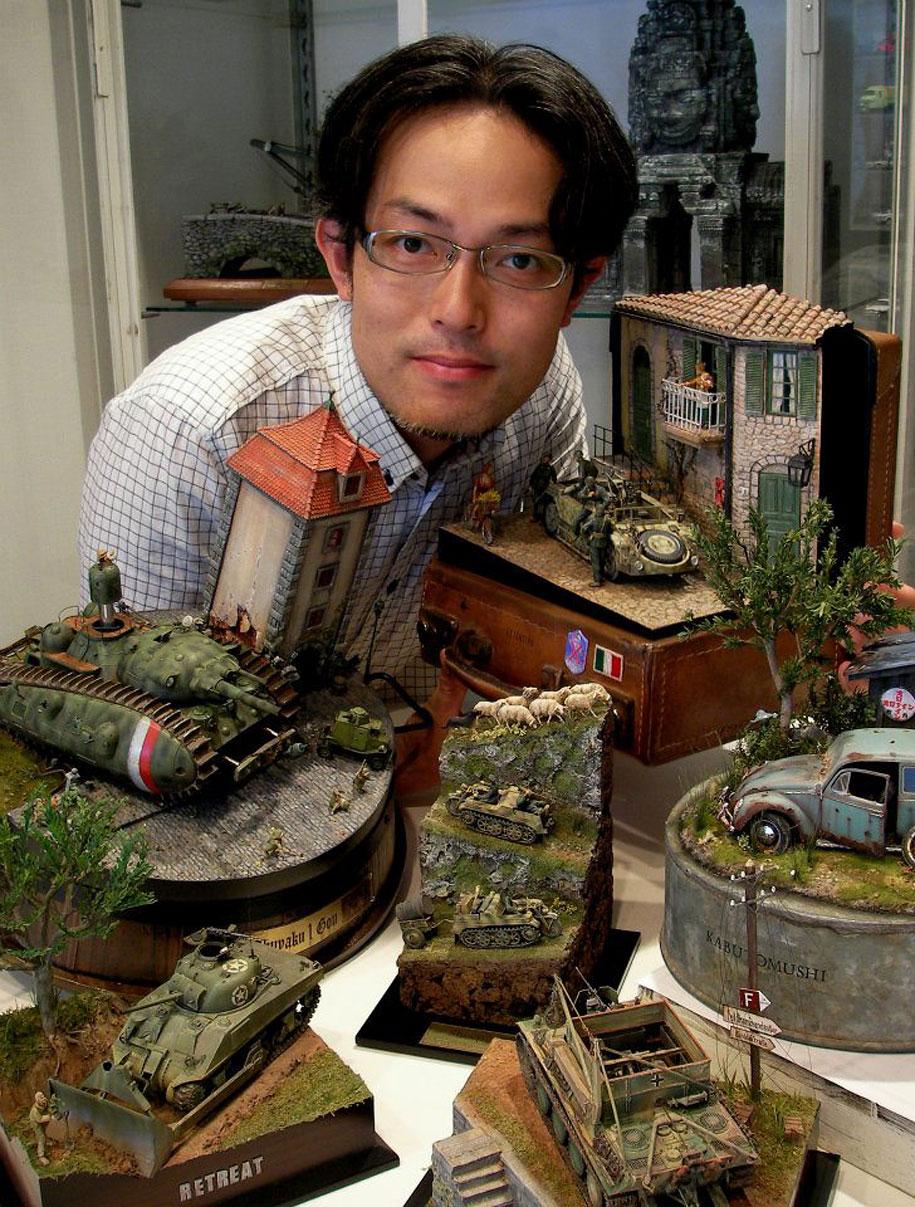 amazing-miniature-diorama-tanks-mecha-satoshi-araki-1
