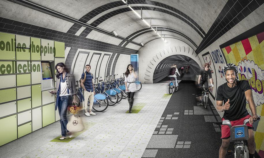 bicycle-pedestrian-tunnels-underline-gensler-london-5