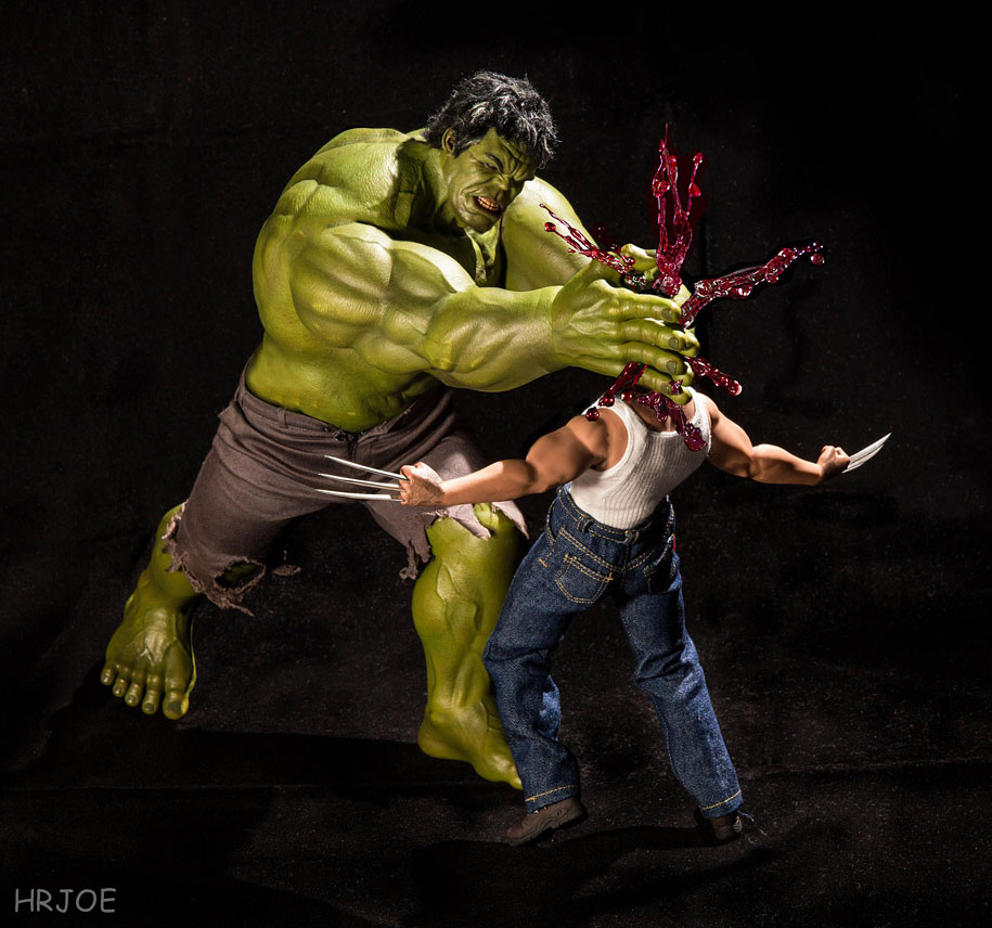 Photographer Documents Secret Life Of Superhero Toys
