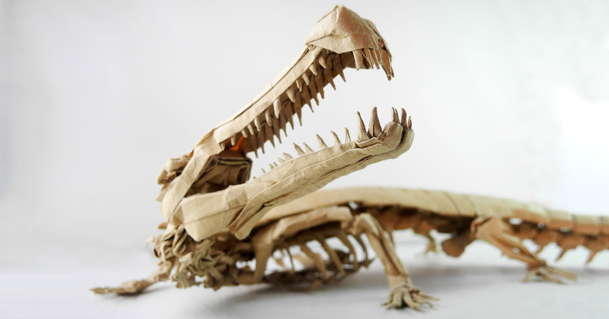 23 Pterrific Dinosaurs Expertly Folded from Paper | 630x1200