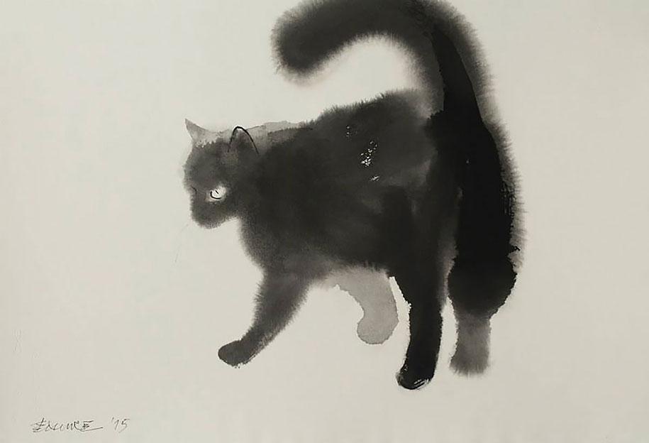 watercolor-cats-ink-paitings-endre-penovac-10