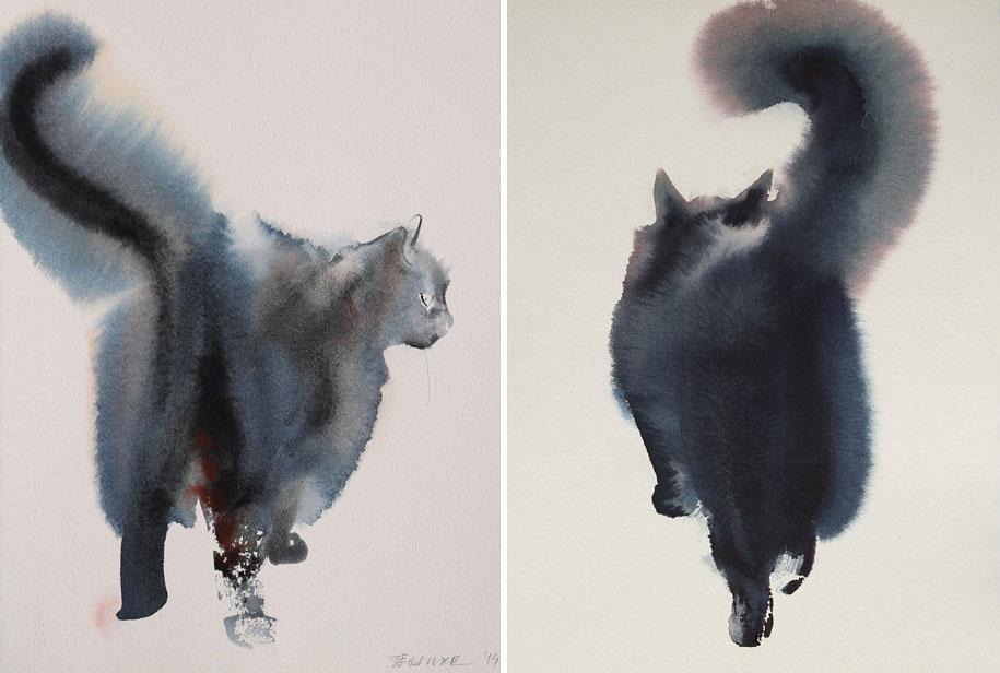 watercolor-cats-ink-paitings-endre-penovac-12