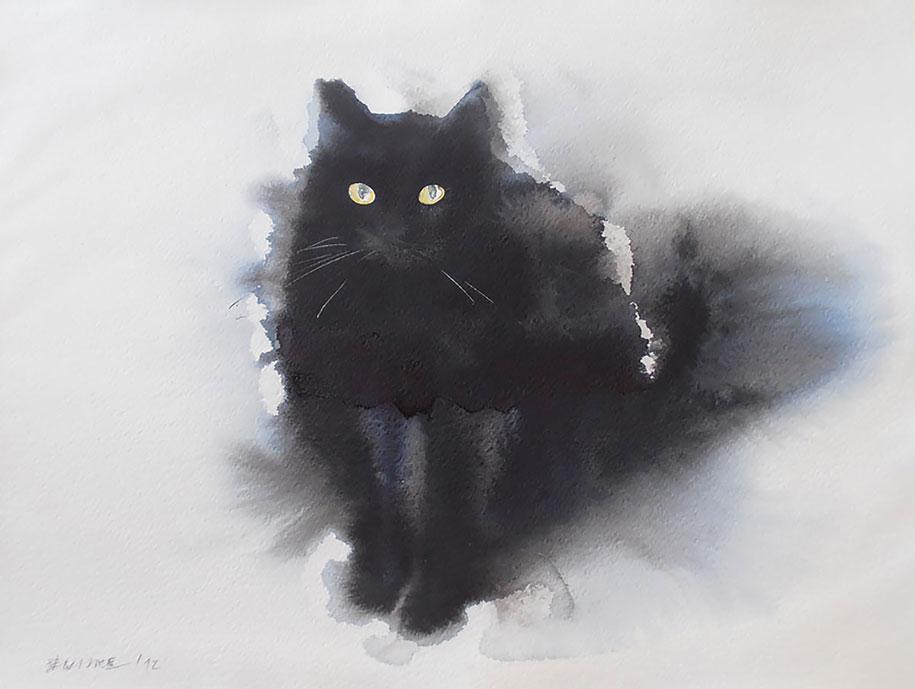 watercolor-cats-ink-paitings-endre-penovac-14