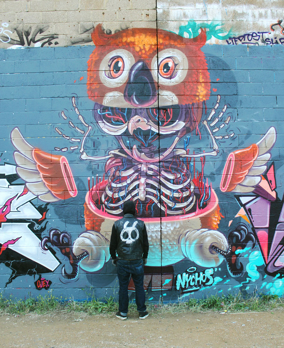 cartoon-character-animal-dissection-street-art-nychos-1