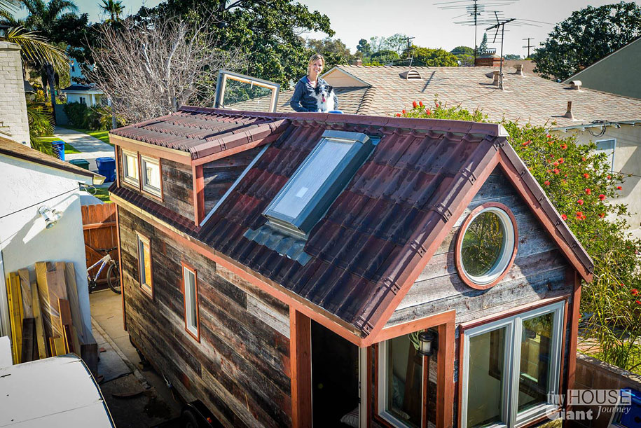 Couple Quits Their Jobs Builds Tiny House On Wheels And Lives By